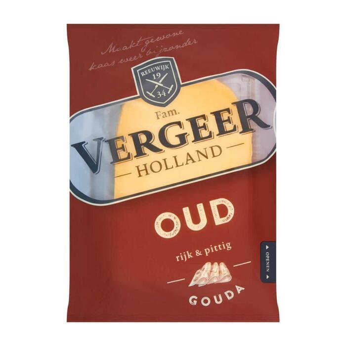 Vergeer Holland Kaas 48+ Plakken Gouda Oud 200g (200g)