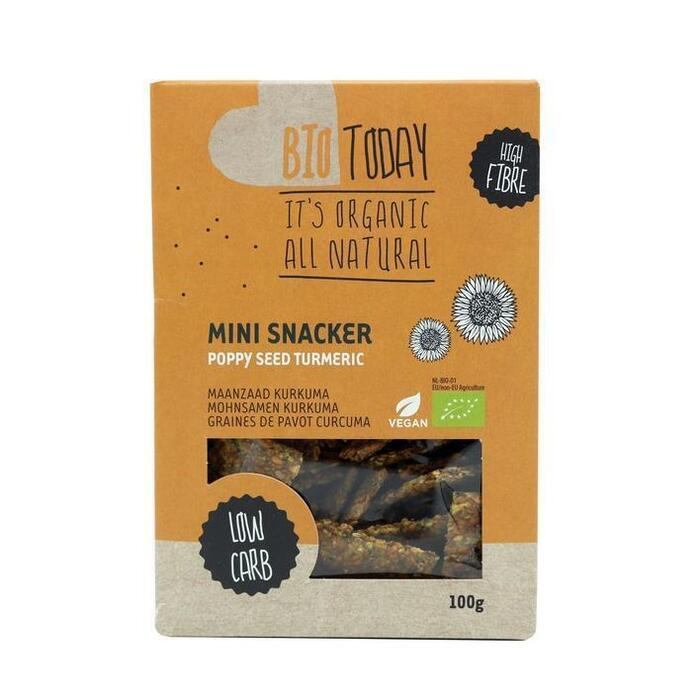Bio Today Mini Snacker Maanzaad Kurkuma 100 g (100g)