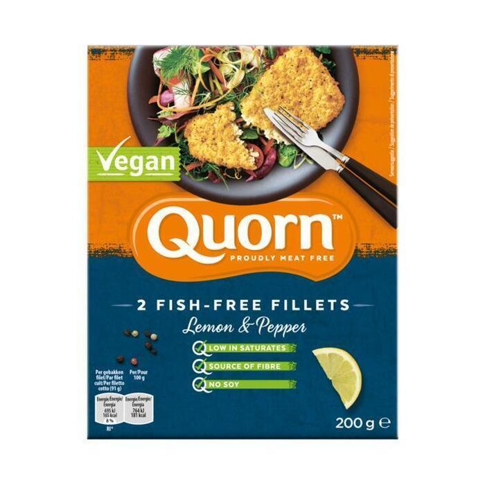 Quorn 2 fish free fillets lemon pepper (200g)