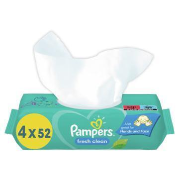 Pampers Baby wipes fresh clean 4-pack (800g)