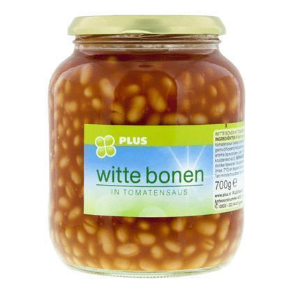 Witte bonen in tomatensaus (Pot, 700g)