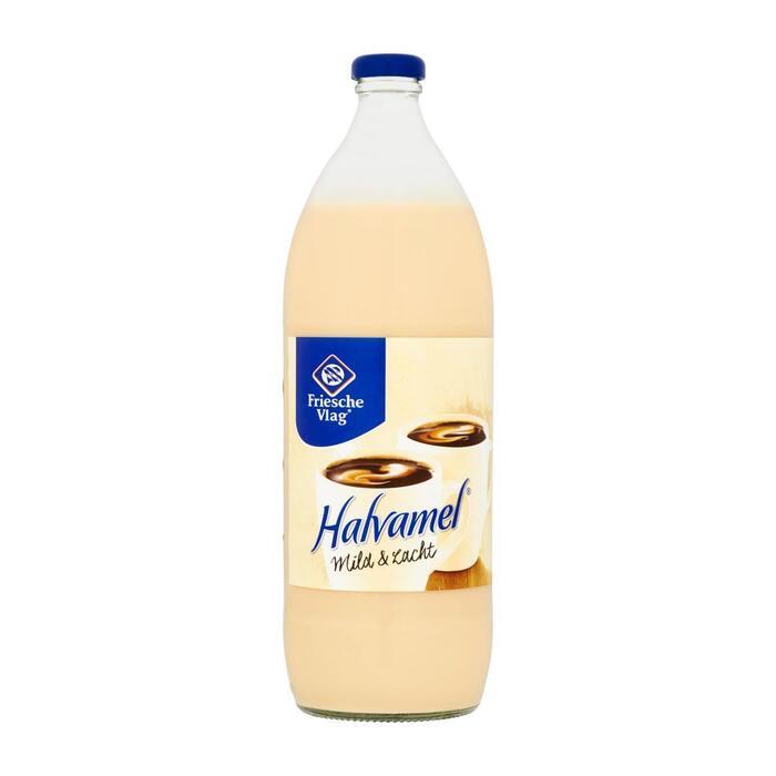 Friesche Vlag Halvamel koffiemelk (1L)
