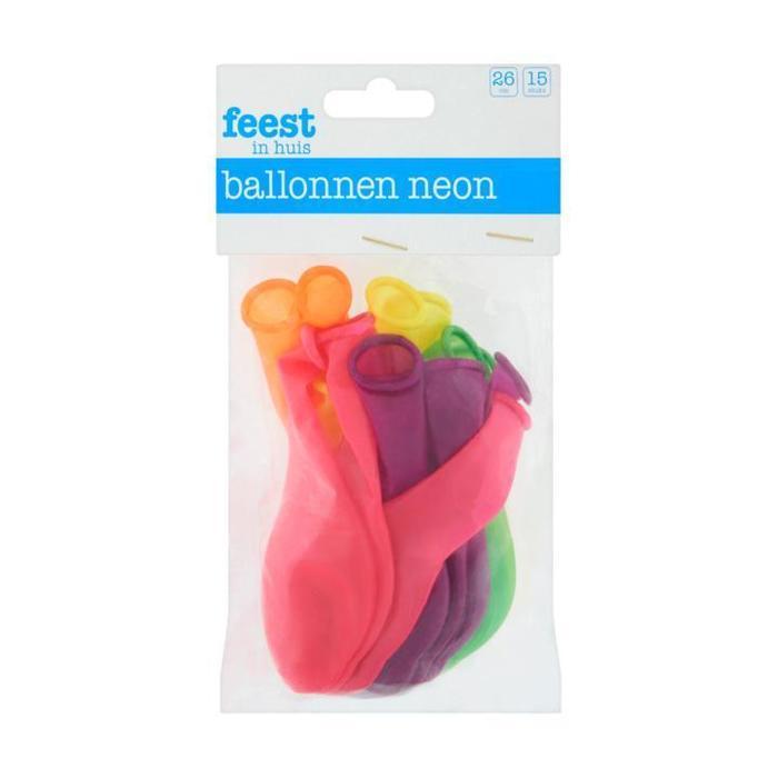 Ballonnen Neon 15 Stuks (15 st.)