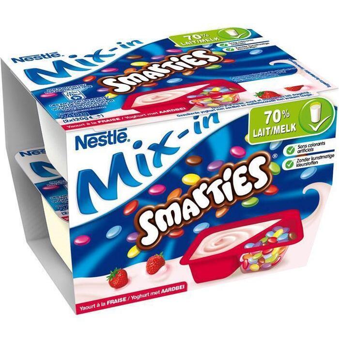 Smarties Mix-In Yoghurt met Aardbei 2 x 120g (2 × 120g)