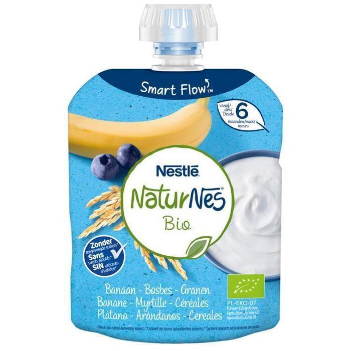 NaturNes Knijpzakje banaan bosbes 6+ bio (90g)
