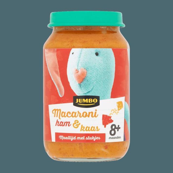 Jumbo Macaroni Ham & Kaas 8+ Maanden 200g (200g)