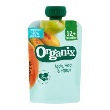Organix Just Apple, Peach & Papaya 100 g (100g)