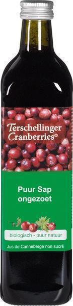 Terschillinger, Cranberrysap ongezoet (glas, 0.75L)
