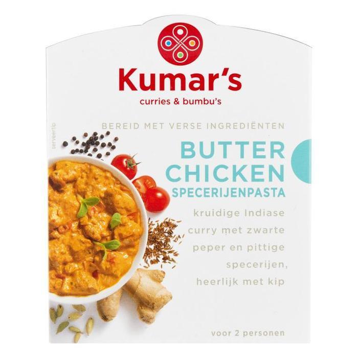 Curries & Bumbu's Butter Chicken Specerijenpasta (doos, 80ml)