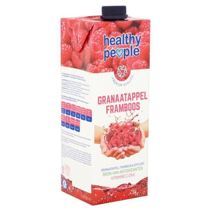 Healthy People Granaatappel Framboos 1L (Stuk, 1L)