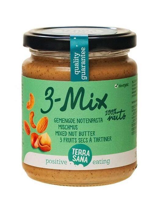 Terra sana, 3-Mix gemengde notenpasta (pot, 250g)