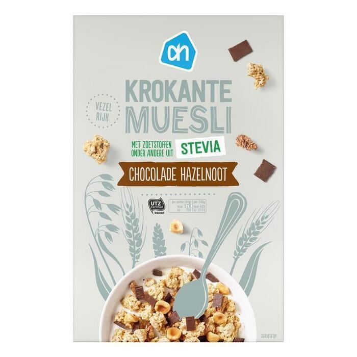 AH Krokante muesli stevia chocolade noot (300g)