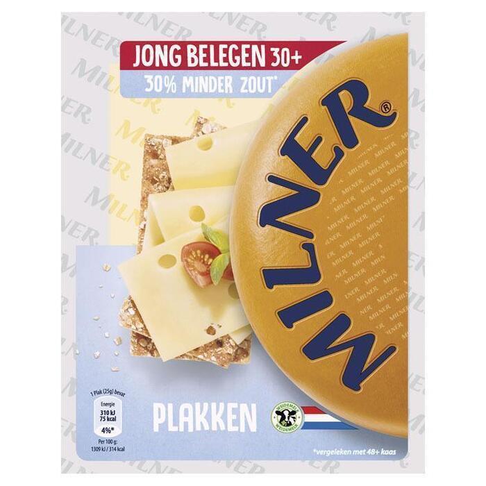 Milner Minder zout 30+ plakken (175g)