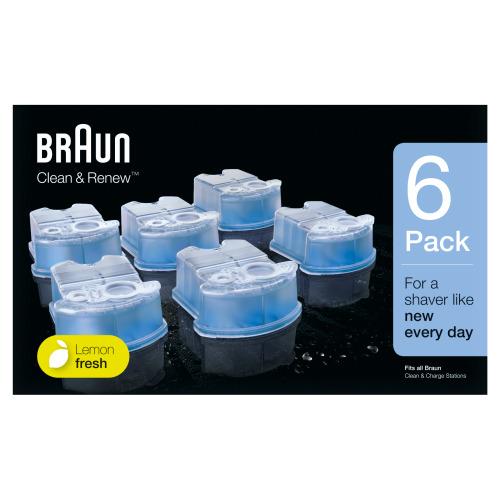 Braun Clean & Renew Reinigingsvloeistof Scheerapparaat 6-pack