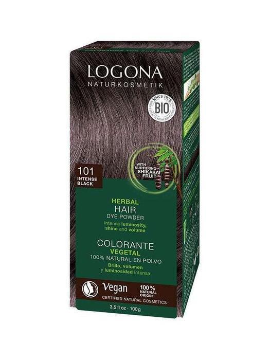 Haarkleuring 101 Intens Zwart Logona 100g (100g)