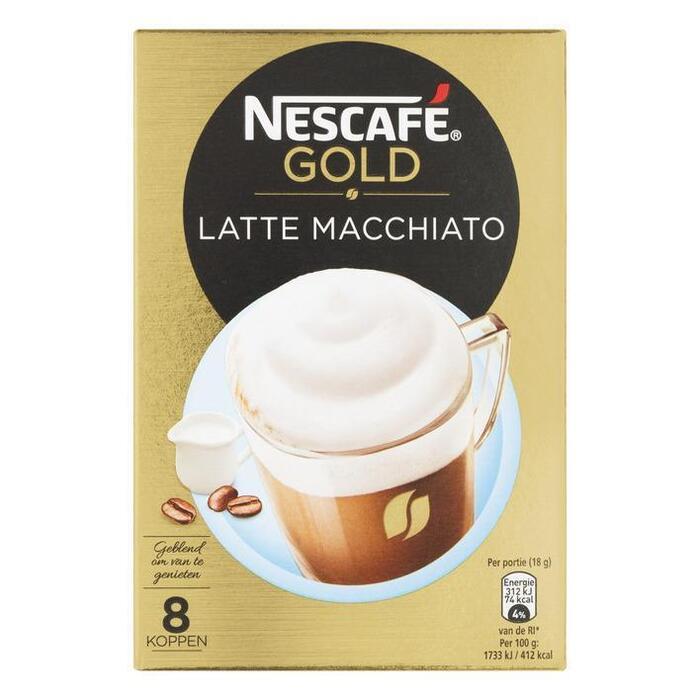 Nescafé, Latte Macchiato extra cremosa (Stuk, 8 × 18g)