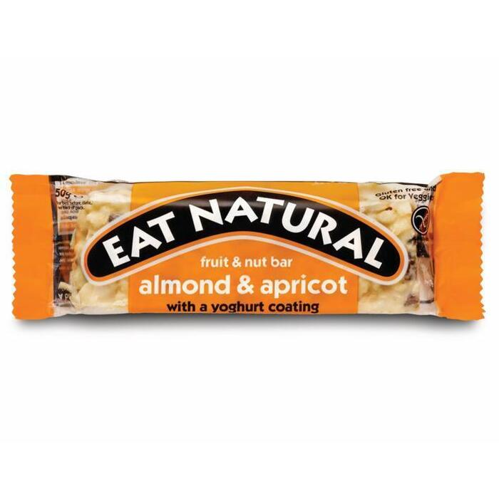 Eat Natural fruit & nut bar amandel & abrikoos met een yoghurtlaagje  50 g (stuk, 50g)