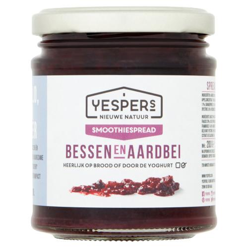 Yespers Nieuwe Natuur Fruit & Groentespread Bessen Aardbei 170 g (200g)