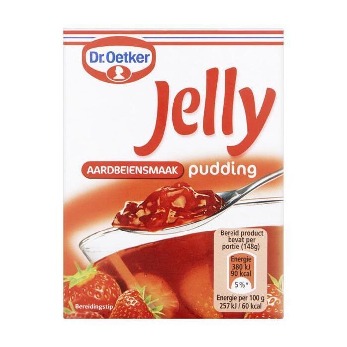 Jelly Aardbeiensmaak Pudding (Stuk, 94g)