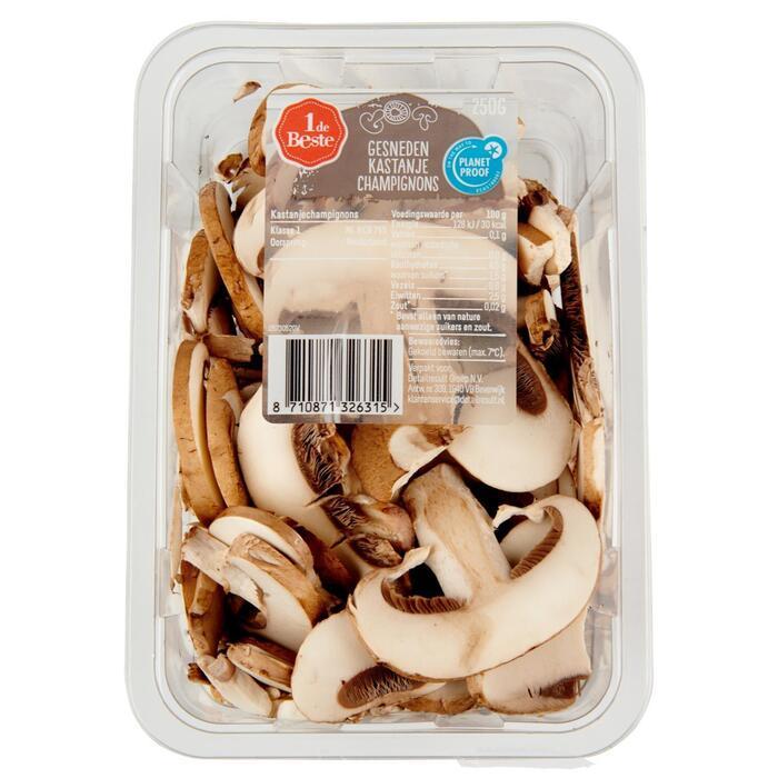 Kastanje champignons gesneden (250g)