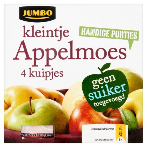 Jumbo Kleintje Appelmoes 4 x 100g (4 × 100g)