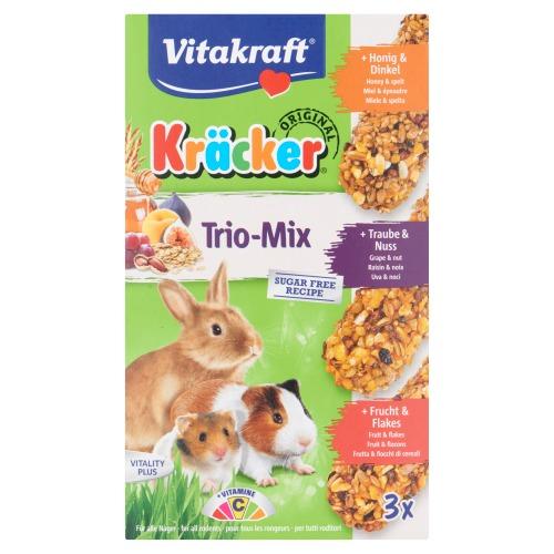 Vitakraft Original Kräcker Trio-Mix Honing & Spelt 168g (168g)
