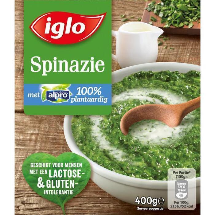 Spinazie met Alpro 100% Plantaardig (doos, 400g)