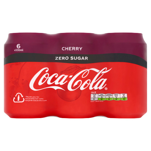 Coca-Cola Zero sugar cherry (6 × 33cl)