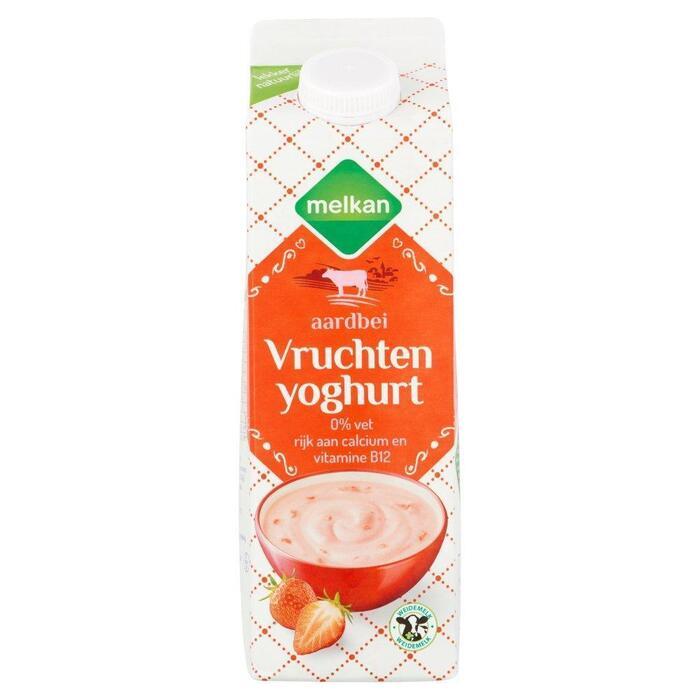 Vruchtenyoghurt mager aardbei (1L)