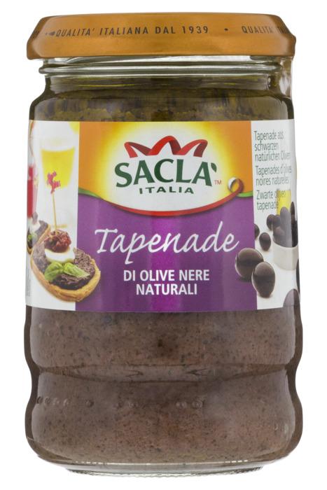 Saclà Zwarte Olijven Tapenade 190g (190g)