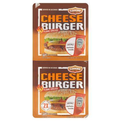 Flemmings 2 Cheeseburger Flame Grilled 261 g (Stuk, 275g)