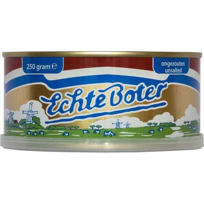 Echte Boter Ongezouten  (Blik, 250g)