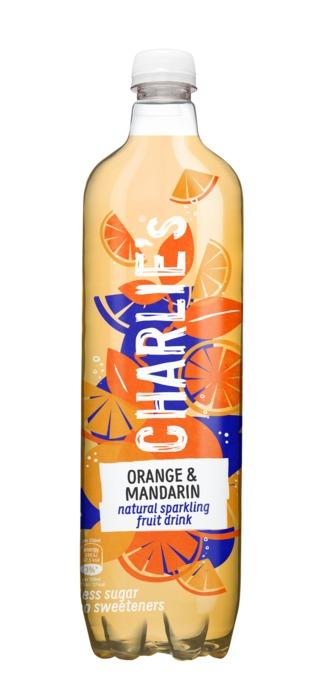 Charlie's Natural Sparkling Fruit Drink Orange & Mandarin 1 L (1L)
