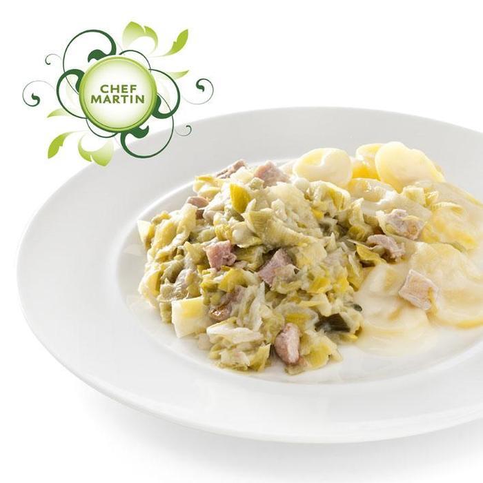 Chef Martin Preischotel aardap schijfjes in kaassaus (550g)