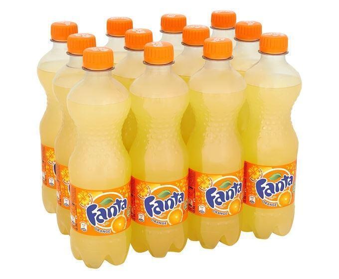 Fanta orange (fles, 12 × 0.5L)