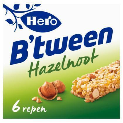 Hero B'tween Hazelnoot 6 x 25 g (Stuk, 150g)