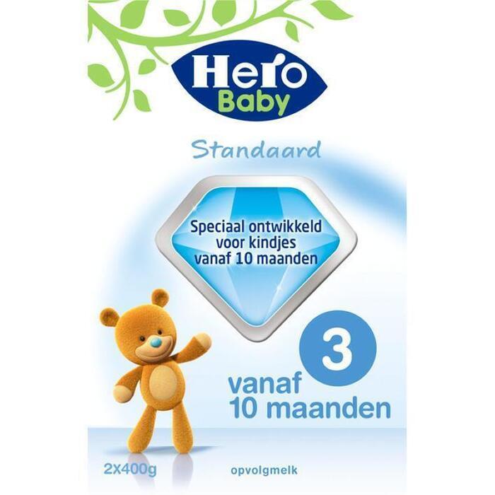 Hero Baby Standaard 3 (2 x 400 g) (Stuk, 2 × 800g)