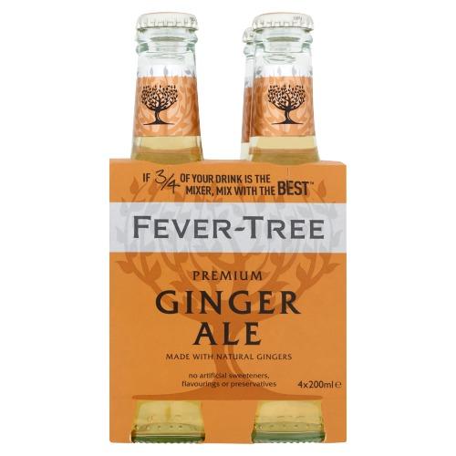 Fever-Tree Premium Ginger Ale 4 x 200 ml (4 × 200ml)