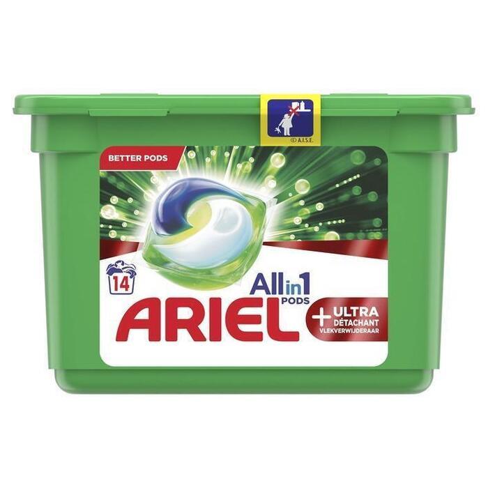 Ariel Allin1 pods+ ultra wasmiddelcapsules (14 × 409g)