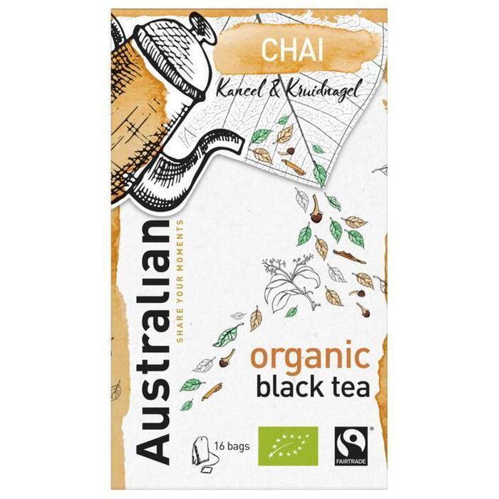 Australian Chai black tea biologisch (16 × 1.6g)