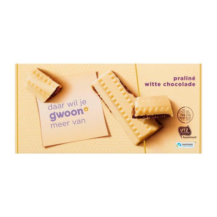 Chocolade wit met praline (200g)