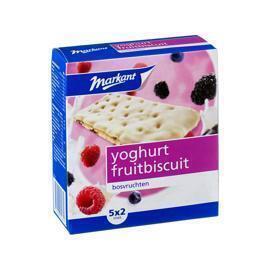 Markant yoghurt fruitbiscuits bosvruchten 182 gr. (doos, 182g)