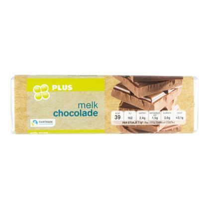 Chocoladereep melk fairtrade (100g)