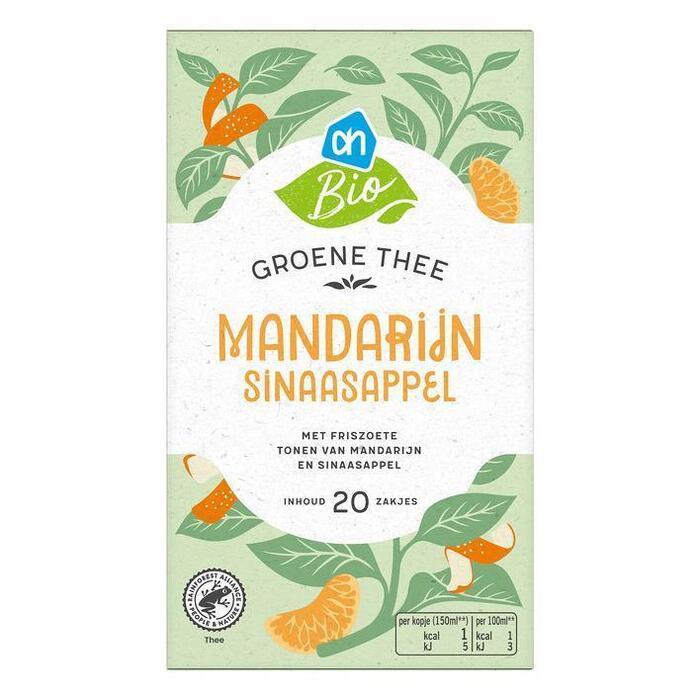 AH Biologisch Groene thee mandarijn sinaasappel