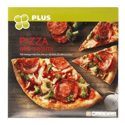 Pizza alle salami en broccoli (431g)