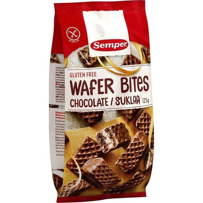 Semper Wafer bites chocolate glutenvrij (125g)