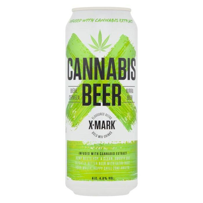X-Mark Cannabis beer (extract) can 500ml (33cl)