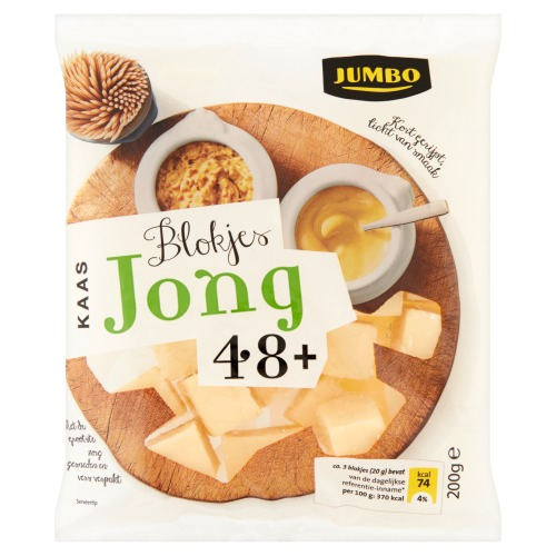Blokjes Jonge Kaas (bak, 200g)