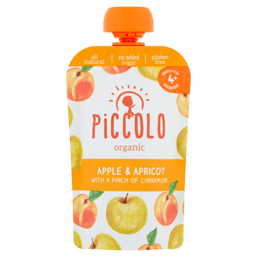 Piccolo Organic Apple & Apricot with a Pinch of Cinnamon Smooth 4+ Months 100 g (100g)