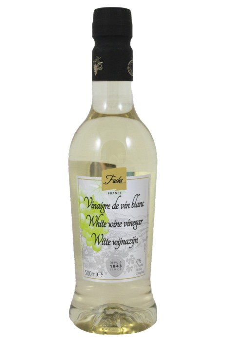 Fuchs Witte wijnazijn 6% 500ml fles (0.5L)